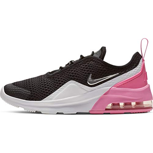 Nike Air Max Motion 2 (pse), Chaussures d'Athlétisme Fille, Multicolore (Black/Metallic Silver/Psychic Pink/White 001), 35 EU