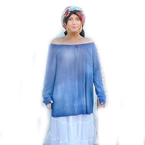 Coklico - Tunique grande taille Tie Dye - 44 46 480 - M. Love - Sans accessoires Bleu clair
