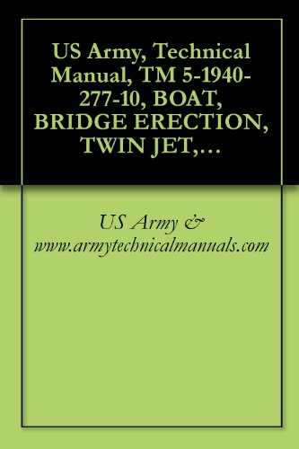 US Army, Technical Manual, TM 5-1940-277-10, BOAT, BRIDGE ERECTION, TWIN JET, ALUMINUM HULL, MODELS USCSBMK 1 (NSN 1940-01-105-5728) AND USCSBMK 2 (1940-01-218-9165) {TM 1940-10/1} (English
