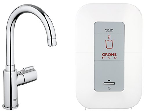 GROHE Red Mono Armatur und Single-Boiler (4 Liter), C-Auslauf 30085000