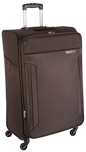 American Tourister Troy Polyester 79 cms Chocolate Brown Softsided Suitcase (AMT Troy SP79 Choc Brown)