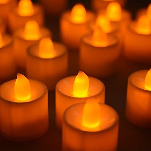 f-eshion LED luz de las velas té luz ámbar amarillo luz