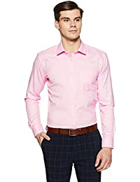 Park Avenue Men's Plain Slim Fit Formal Shirt