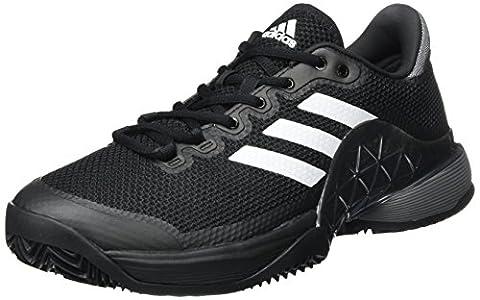 adidas Barricade 2017 Clay, Chaussures de Tennis Homme, Noir (Core Black/Night Metallic/Footwear White), 42 EU