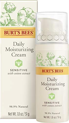 Burt's Bees Natürlich  feuchtigkeitsspende Tagescreme für empfindliche Haut mit Baumwollextrakt, 1er Pack 50 g -