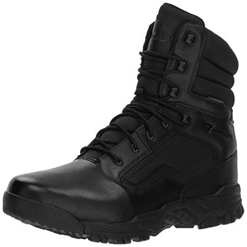 Bates Herren Siege Waterproof Side Zip Leder Black Stiefel 42.5 EU Bates Side Zip Boot