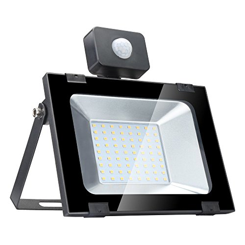 50w Foco led exterior con Sensor Movimiento ,Led Proyector para Exterior Iluminación...