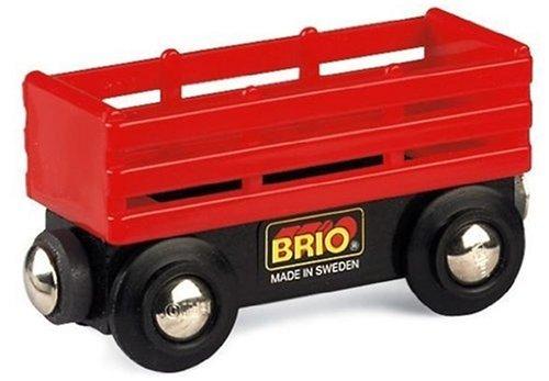 Brio - 33651 - Circuit de train en bois - Wagon de bétail - Rouge