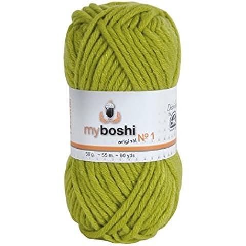MyBoshi-Gomitolo per lavoro a maglia e uncinetto, misto lana, colore: palma (1 unità)