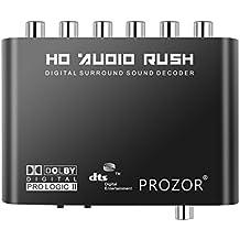 Digital a Analógico 5.1 Audio Gear Adaptador Decodificador de Sonido SPDIF RCA Dolby AC3 / DTS Entrada Coaxial Óptica - Soporte para HDTV DVD Player Blue ReyDVD DVD SP3 Xbox 360