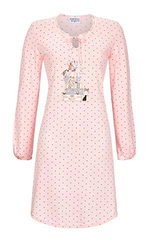 Ringella Lingerie Damen Nachthemd mit Kleiner Spitze Crystal Rose 42 9561021, Crystal Rose, 42