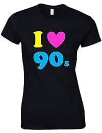 I LOVE THE 90s Ladies Funny Printed T-Shirt (B1)