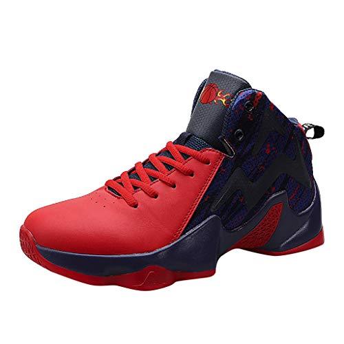 Männer Basketball Schuhe High-Top-Dämpfung Licht Anti-Skid AtmungsAktive Outdoor-Sportschuhe Herren Sneakers Sportschuhe Mädchen...