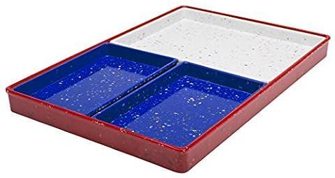 Zak! Designs Confetti Modular Rectangular Tray, Red, White & Blue, Set of 4 by Zak Designs