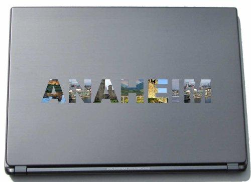 Anaheim Laptop Aufkleber Laptop Skin 290 mm mit Sehenswürdigkeiten -