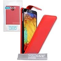 Schutzhülle Samsung Galaxy Note 3Schutzhülle rot PU Leder Flip Hülle