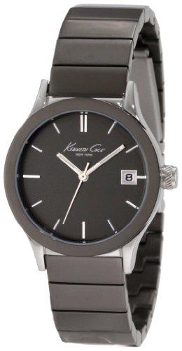 Kenneth Cole KC4838 - Reloj analógico de Cuarzo para Mujer con Correa de Acero Inoxidable, Color Negro...
