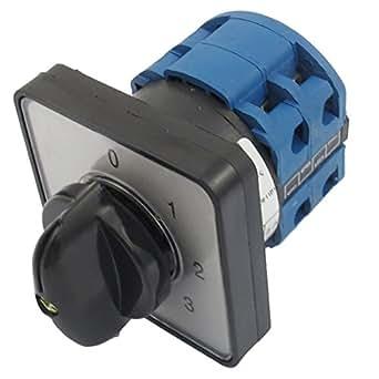 sourcingmap® 660V 20 A 6 Terminaux 4 Positions Commutateur Rotatif Cam