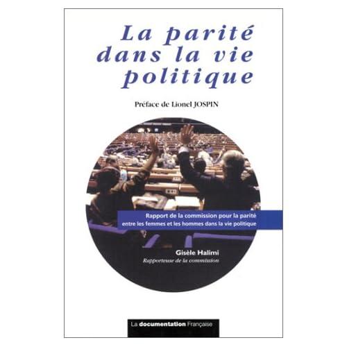 La Parité dans la vie politique : Rapport