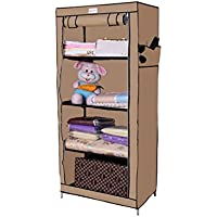 Novatic Classic Supreme Quality Foldable Carbon Steel Collapsible Wardrobe with Capacity and Single Door (Cream)