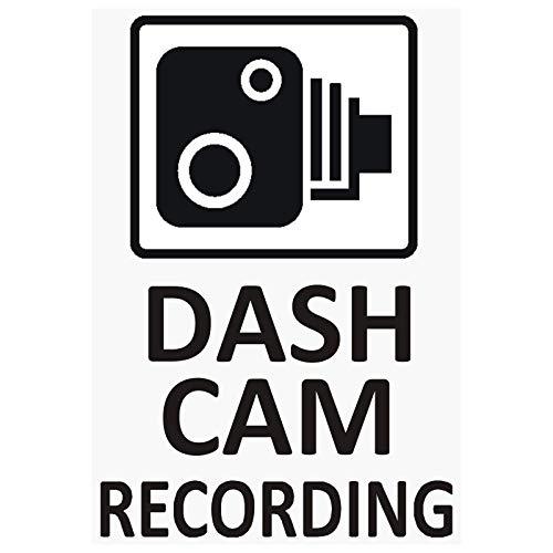 Platinum Place 4 x Dash CAM Recording-Sticker für Fahrzeugsicherheit, für CCTV, Auto, Van, LKW, Taxi, Mini Cab, Bus, Coach, Go Pro, Sicherheit, Schutz, Hinweis, Abschreckung, 60 mm x 87 mm