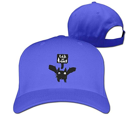 Classic Cotton Hat Adjustable Plain Cap, Halloween Bat Plain Baseball Cap Adjustable Size Curved Visor Hat 519