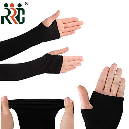 RRC Branded Black Arm Sleeve with Thumb Hole - 1 Pair