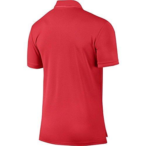 Nike M nkct Dry Polo Team Maglietta a maniche corte da tennis, Uomo rosso