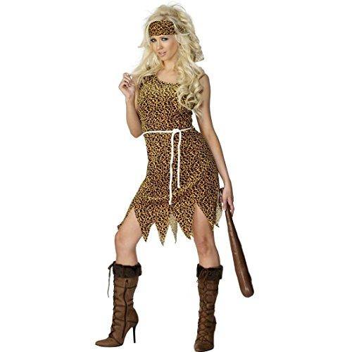 NET TOYS Neandertalerin Kostüm Steinzeitkostüm Braun L 44/46 Höhlenfrau Kostüm Jane Outfit Dschungelkostüm Steinzeit Verkleidung Damen (Kostüm Jane)