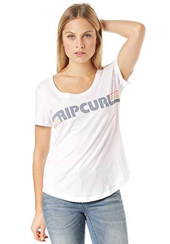 Rip Curl Big Mama Essentials Damen,T-Shirt,Short Sleeve Tee,Kurze Ärmel,Rundausschnitt,White,2XS