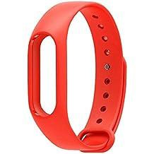 Reemplazo banda para Xiaomi Mi Banda 2versión correa de repuesto 2muñequeras de silicona accesorios para Miband, rojo