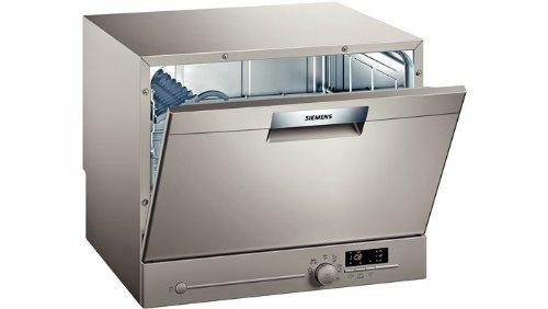 Siemens SK26E820EU Tischgeschirrspüler / A+ A / 6 Maßgedecke / 60 cm / Silver Inox