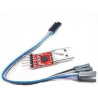 hiletgo CP2102 USB 2.0 a TTL Módulo Convertidor de Serie con libre Cable