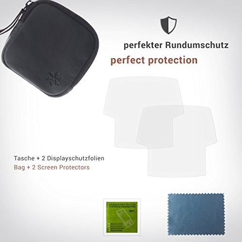 honju BIKE Bundle 61335 für Bosch Intuvia, Echtledertasche + Anti-Reflex Displayschutzfolie (Tasche mit Innenfach, Displayschutzfolie Made in Germany, 2 Displayfolien pro Bundle)