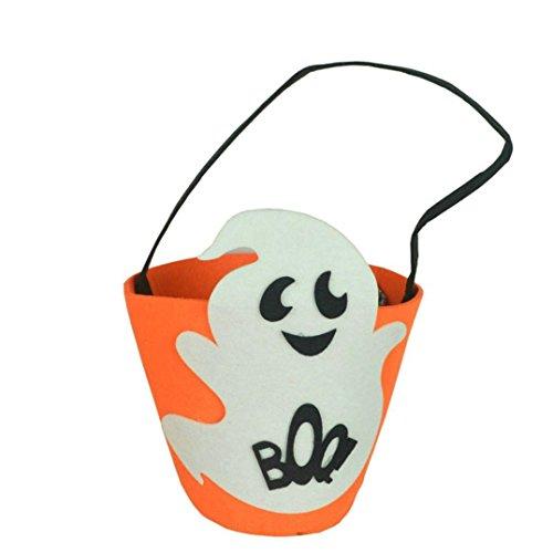HCFKJ 2017 Mode Halloween KüRbis Tasche Kinder SüßIgkeiten Handtasche Eimer Kinder (2)