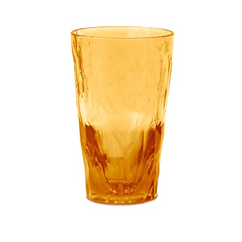 koziol Longdrink Glas 300ml CLUB NO. 6, Superglas, transparent amber -