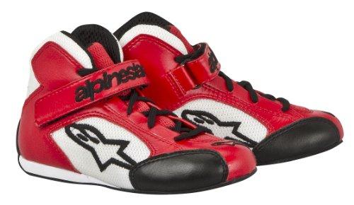 Alpinestars 2712513-32 Zapatos de Kart, Color Rojo/Blanco, Talla 12.5