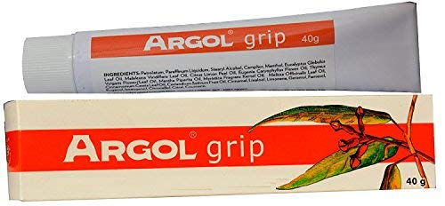 Argol grip Erkältungssalbe, 40g - 9 ätherische Öle gegen Viren und Bakterien, gehen direkt in den Blutkreislauf über, erwärmen, beugen Erkältung Grippe vor, Schleimlöser, Erkältungsmittel balsam - Alba Massage-Öl