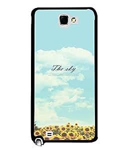 FUSON Designer Back Case Cover for Samsung Galaxy Note 2 :: Samsung Galaxy Note Ii N7100 (Garden Flowers Parks Blue Sky Sun Shine)