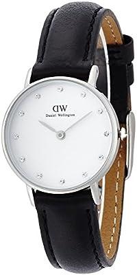 Daniel Wellington 0921DW - Reloj con correa de cuero para mujer, color blanco / gris