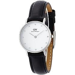 Daniel Wellington 0921DW - Reloj con correa de cuero, para mujer, color blanco y negro