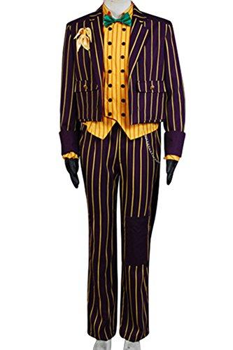 Batman Arkham Asylum Outfits Halloween Cosplay Party Full Set Joker Cosplay Kostüm Herren X-large