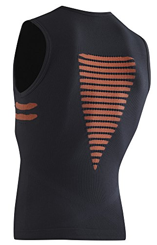 X-Bionic, Canotta da ciclismo Uomo Energizer Multicolore - Nero / Arancione