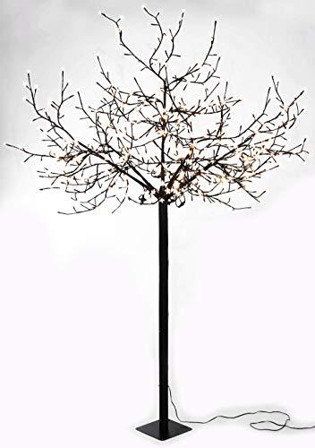 Spetebo - albero di ciliegio con 600 led, per interni ed esterni, 250 cm, luce bianca calda