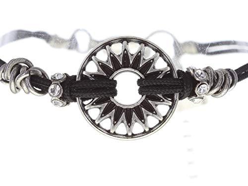 Konplott Festival Bracelet   Armband Exklusiver Designer-Modeschmuck mit Swarovski Elements   Armband mit Glitzer-Steinen in Weiß