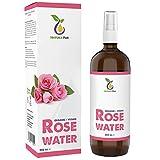 NATURA PUR Acqua di Rose Biologica 200ml - 100% naturale, pura, vegana - idratante alla rosa naturale, tonico per il viso per pelli impure, rimuove brufoli acne e anche make-up