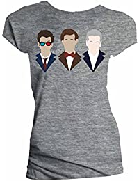Doctor Who 10Th 11Th 12Th Vector Line Up Juniors Shirt L