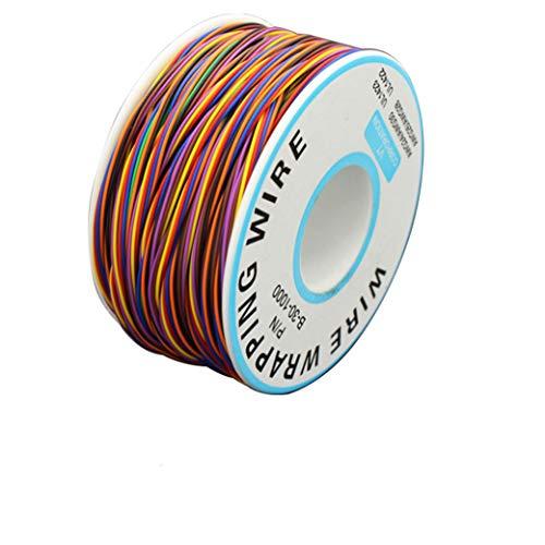 BlueXP 280M 280 Isolierungs Test Verzinnte Kupfer Solid Kabel mit Lötkolben Schwamm Kabel 0,6mm2 8-Adriger farbiger Laptop Motherboard Elektronischer Test AWG 30 P/N B 30 100 Elektronischer Test Kabel