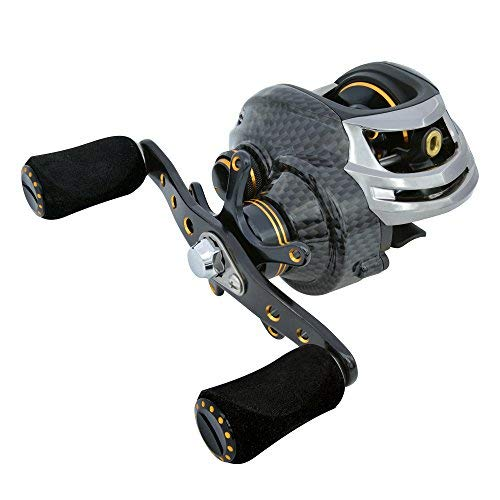 Fishdrops Baitcast-Rollen Double Brake Systems Baitcaster Reel High Speed Gear Ratio 7.0 Ultra Smooth Low Profile Angelrolle, Crank with Your Left Hand, LB-Left Hand -