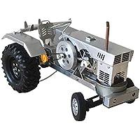 Stirling Coche, Vapor All-Metal Del Coche Modelo Del Motor, El Modelo De Tractor, Motor De Tracción De Vapor De Aire Caliente, Stirling Motor De Combustión Externa, Desplazable Y Que Puede Girar,Plata